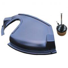 Пластмассовая крышка для купелей d170см с печью SUB/SIDE, часть для печи